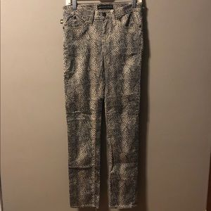 Rock & Republic Snake Print Skinny Jeans